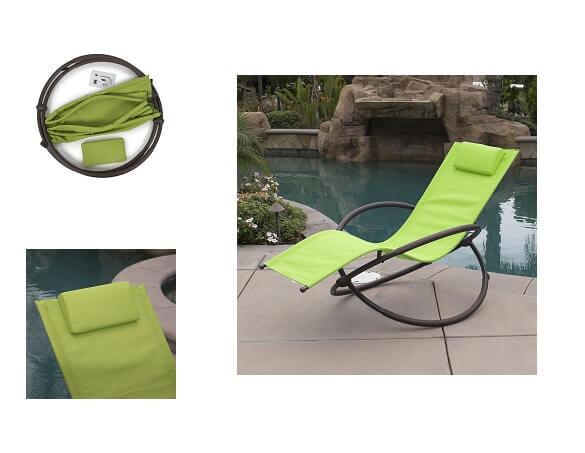 Belleze 1-Piece Folding Lounge Chair