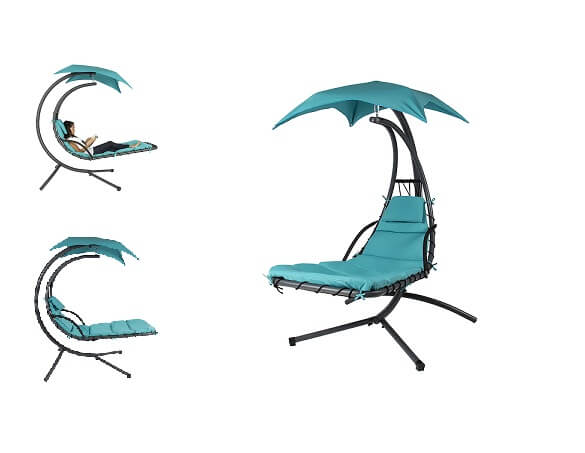 BestChoiceProducts - Hanging Chaise Lounger Chair