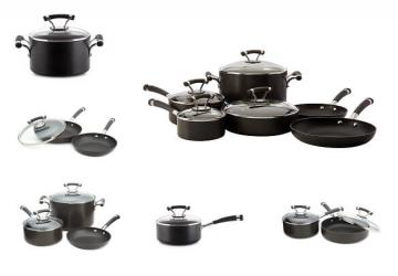 CirculonContempo Hard Anodized Nonstick 10-Piece Cookware Set