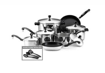 Farberware Classic Stainless Steel 15-Piece Cookware Set