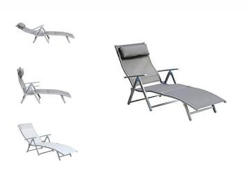 Outsunny - Patio Reclining Chaise Lounge Chair