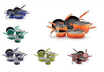 Rachael Ray Hard Enamel Nonstick 10-Piece Cookware Set
