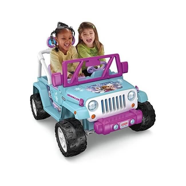 The Power Wheels Disney Frozen Jeep Wrangler