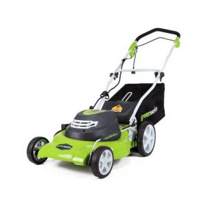 The Greenworks 20-Inch 12 Amp Corded Lawn Mower