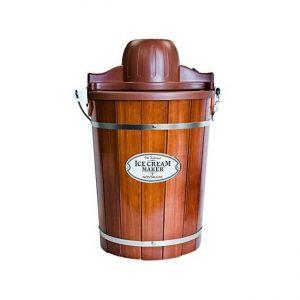 The Nostalgia ICMP600WD 6-Quart Wood Bucket Ice Cream
